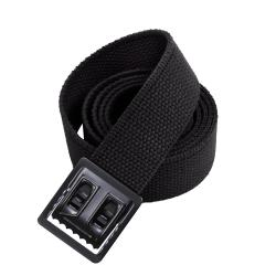 EXTRA LONG BLACK BELT WITH BLACK BUCKLE