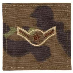 AIRMAN MULTICAM AIR FORCE RANK PATCH WITH HOOK BACK
