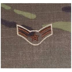 AIRMAN FIRST CLASS MULTICAM AIR FORCE RANK PATCH WITH HOOK BACK