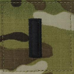 1ST LIEUTENANT MULTICAM AIR FORCE RANK PATCH WITH HOOK BACK