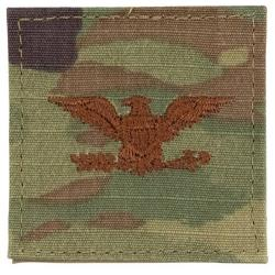COLONEL MULTICAM AIR FORCE RANK PATCH WITH HOOK BACK