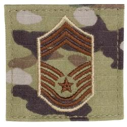 CHIEF MASTER SERGEANT MULTICAM AIR FORCE RANK PATCH WITH HOOK BACK
