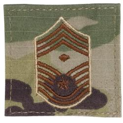 CHIEF MASTER SERGEANT WITH DIAMOND MULTICAM AIR FORCE RANK PATCH WITH HOOK BACK